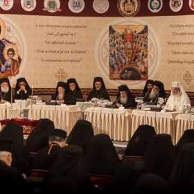 Patriarchs sat at the opening session of the Holy and Great Council in Crete.